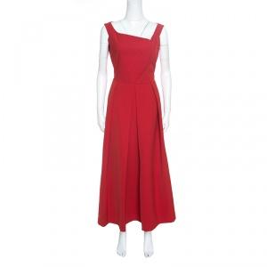 Preen By Thornton Bregazzi Red Pleated Finella Midi Dress L