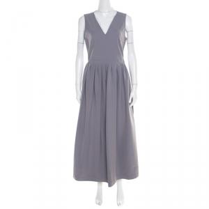 Preen by Thornton Bregazzi Colorblock Plunge Neck Bianca Midi Dress L