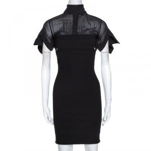 Preen by Thornton Bregazzi Black Waist Cutout Detail Fitted Dress M