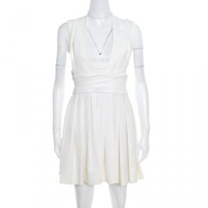 Preen by Thornton Bregazzi White Stretch Bandeau Harness Dress L - used