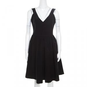Preen by Thornton Bregazzi Black Plunge Neck Ted Satin Flo Dress XL - used