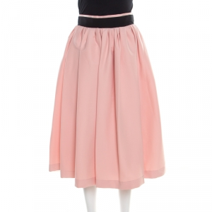 Preen by Thornton Bregazzi Salmon Pink Pleated Everly Skirt M