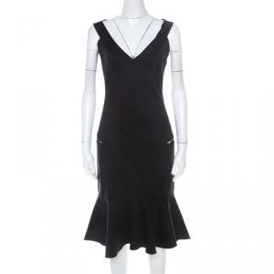 Preen by Thorton Bregazzi Black Stretch Cotton Morgan Dress XS - used