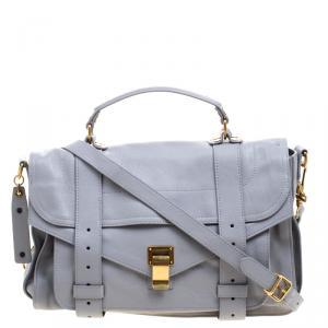 Proenza Schouler Grey Leather PS1 Top Handle Bag
