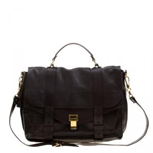 Proenza Schouler Brown Leather Large PS1 Top Handle Bag