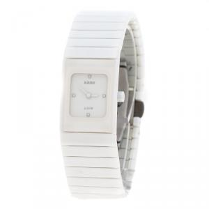Rado White Ceramica Jubile 01.963.0713.3.070 Women's Wristwatch 19 mm