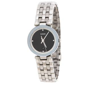 Rado Black Stainless Steel Florence R48874153 Women'd Wristwatch 28 mm