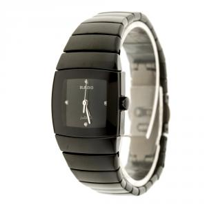 Rado Black Ceramic Titanium Sintra 318.0726.3 Women's Wristwatch 22 mm