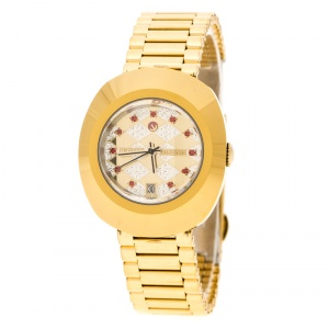 Rado Diastar Gold Plated Stainless Steel Women's Wristwatch 27 mm