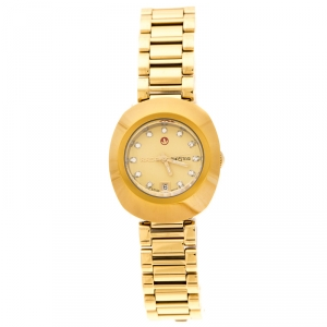 Rado Yellow Gold PVD Coated Diastar R2416634 Women's Wristwatch 27 mm