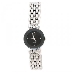 Rado Black Stainless Steel Diamonds Florence R48447723 Women's Wristwatch 23 mm