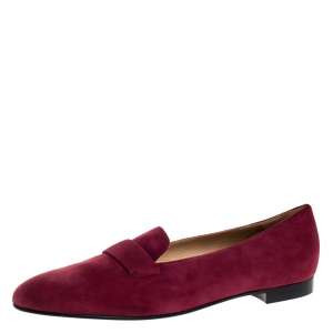 Ralph Lauren Red Suede Slip On Flat Loafers Size 42 -