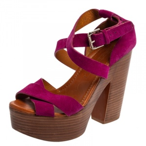 Ralph Lauren Collection Pink Suede Alannah Sandals Size 38 - used