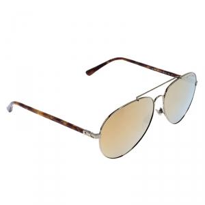 Ralph Lauren Antique Gold/ Gold Mirrored RL7058 Aviator Sunglasses