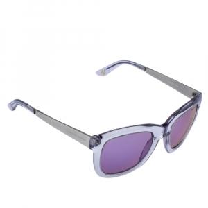 Ralph Lauren Silver Tone & Clear/ Purple Mirrored RL 8077-W Sunglasses