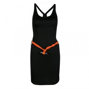 Ralph Lauren Black Knit Contrast Rope Belt Detail Tank Dress S used