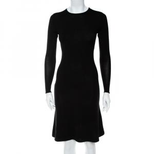 Ralph Lauren Black Wool & Cashmere Sheath Dress S - used