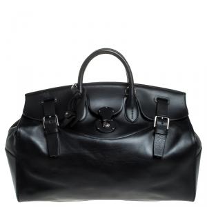 حقيبة عمل رالف لوران ريكي جلد أسود