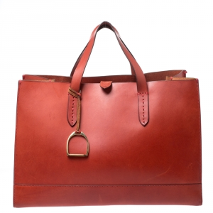 Ralph Lauren Red Leather Proprietor Tote
