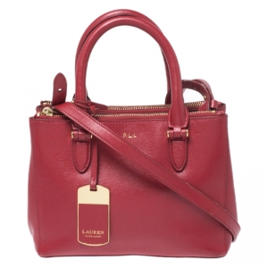 Ralph Lauren Red Leather Tote