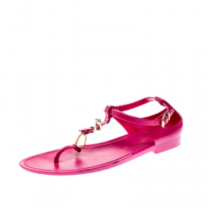 Ralph Lauren Fuschia Pink Jelly Karly Ankle Strap Sandals Size 41 - used