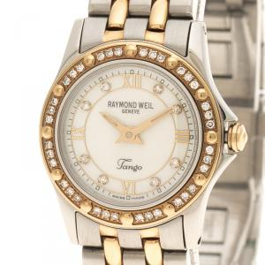Raymond Weil Mother of Pearl Tango Stainless Steel Women's Wristwatch 22MM
