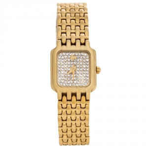 Raymond Weil Gold Diamond Pave Gold Plated Fidelio 3723-2 Women's Wristwatch 17.50 mm