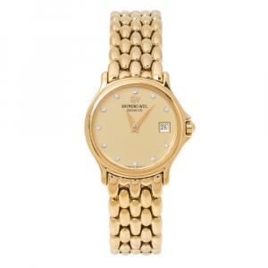 Raymond Weil Gold Plated Chorus 5368 Women's Wristwatch 23.50 mm