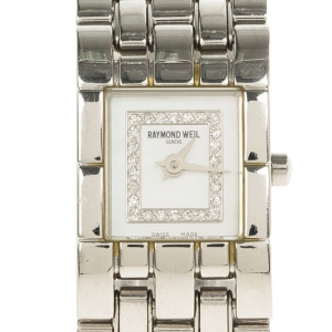 Raymond Weil White Stainless Steel Tema Women's Wristwatch 18MM
