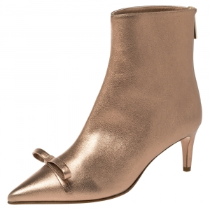 RED Valentino Light Nude Leather Booties Size 39