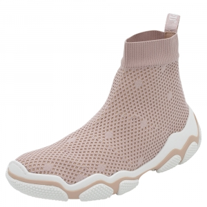 RED Valentino Foschia Stretch Fabric Glam Run High-Top Sneakers Size 38