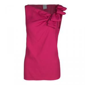 Red Valentino Pink Bow Detail Sleeveless Top M