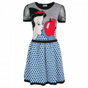 Red Valentino Tulle Trime Snow White Pattern Wool Blend Disney Dress XS