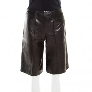 RED Valentino Black Lambskin Leather Culottes S