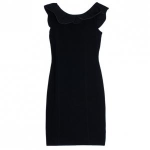 RED Valentino Black Ruffle Sheath Dress M
