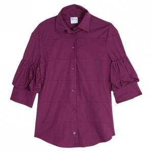 Red Valentino Fuschia Short Sleeve Shirt M