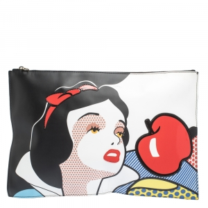 RED Valentino Multicolor Snow White Leather Clutch