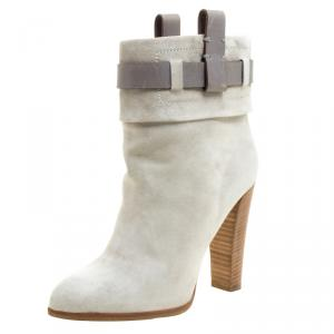 Reed Krakoff Grey Suede Ankle Boots Size 36.5