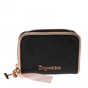 Repetto Black Leather Plie Wallet