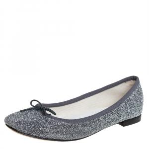 Repetto Glitter Fabric Ballet Flats Size 37 - used