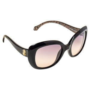 Roberto Cavalli Black Gradient Alula RC828S Oval Sunglasses