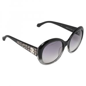 Roberto Cavalli Black/Grey Gradient Tejat RC983S Oversized Sunglasses