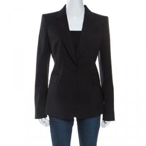 Roberto Cavalli Black Wool Tailored Blazer M