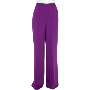 Roberto Cavalli Purple Wide Leg Trousers L
