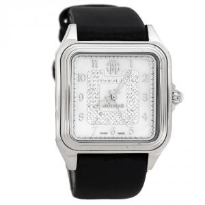Roberto Cavalli White MOP Stainless Steel Venom Women's Wristwatch 33 mm