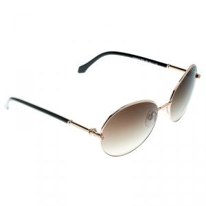 Roberto Cavalli Gold / Brown Gradient 832S Angetenar Round Sunglasses