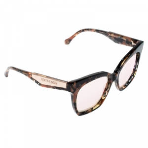 Roberto Cavalli Havana/ Pink Mirrored Montieri 1097 Wayfarer Sunglasses
