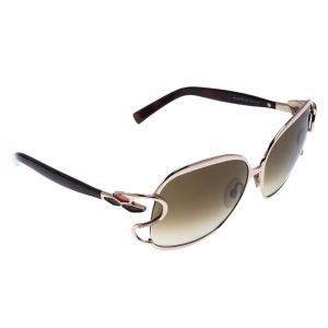 Roberto Cavalli Brown 578S Gradient Mimosa Square Sunglasses