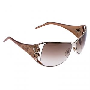 Roberto Cavalli Caramel Brown/Brown Gradient Tizio 387S Oversized Rectangle Sunglasses