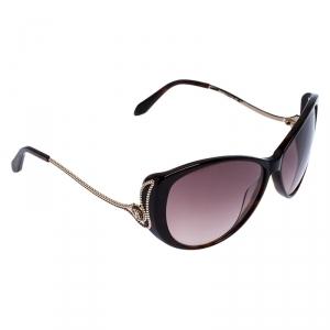 Roberto Cavalli Dark Havana/Brown Gradient 741S Kandooma Cat Eye Sunglasses